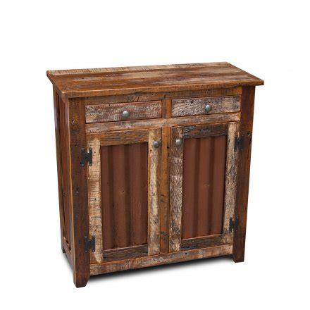 Barnwood Shaker Server W Tin Doors Barnwood Cabinet Doors