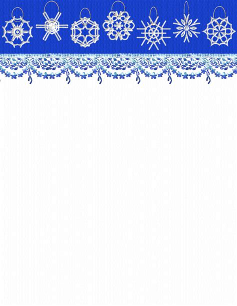 Winter Stationery Theme Downloads Pg 3 Winter Stationery Template