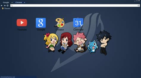 themes google chrome fairy tail fairy tail theme by opssham on deviantart