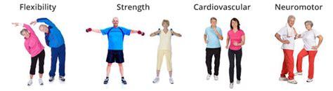 neuro motor strength senior fitness programs key exercise components