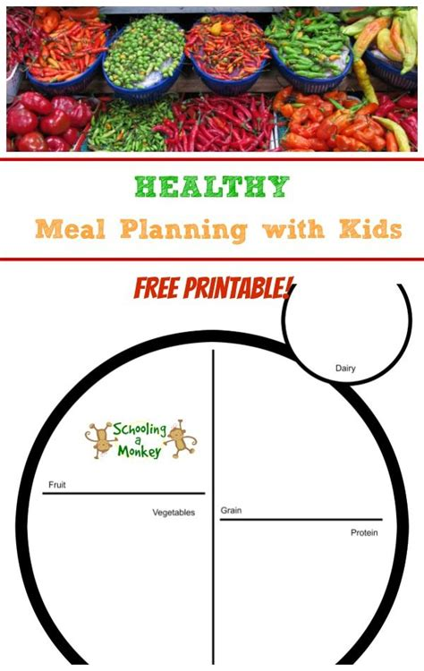 printable meal planner for toddlers healthy meal planning with kids activity free printable