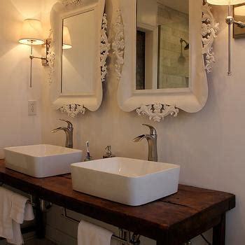 Reclaimed Bathroom Fixtures Reclaimed Wood Floating Vanity Design Ideas