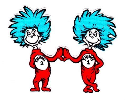 think color thing 1 and thing 2 printable clip clipart best