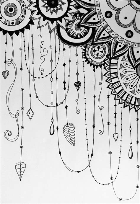 doodle etsy dreamcatcher variation zentangle doodle by