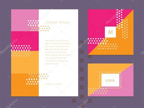 Brochure And Business Card Illustrator Template by Letterhead Template Business Card And Brochure Cover
