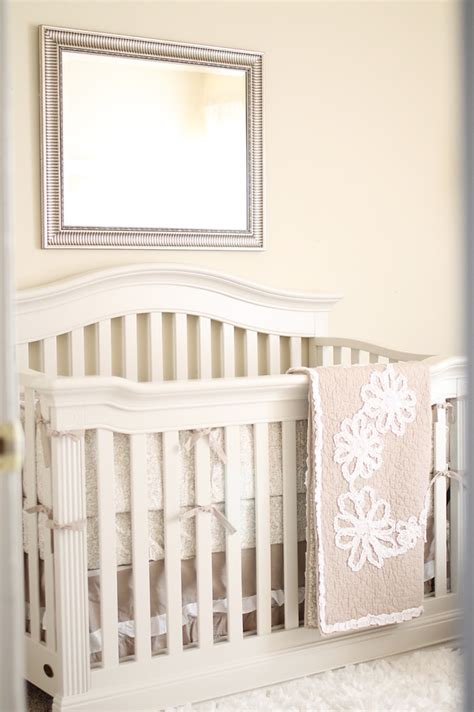 Burlap Crib Bedding by Vintage Inspired Nursery Project Nursery