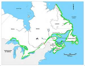 map east canada environment and climate change canada nature