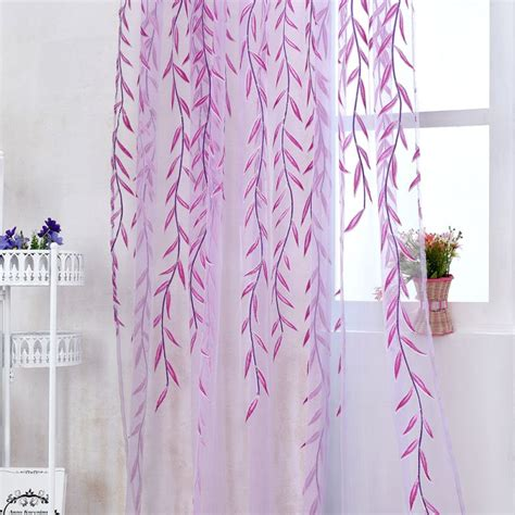sheer curtains with pattern chic room willow pattern voile window curtain sheer panel