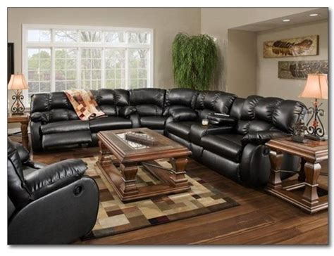 Black Leather Reclining Sectional Sofa Recline Designs Furniture Hton Black Leather Reclining Sectional Contemporary Sectional