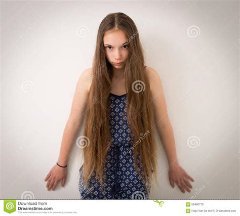 teen girls long hair teenage girl with extremely long hair stock photo image