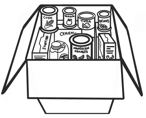 coloring pages canned food images of canned food cliparts co