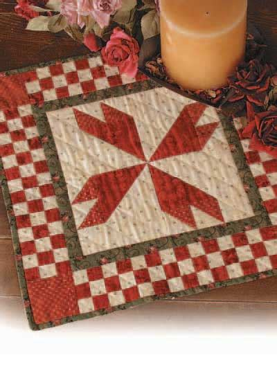 How To Make A Quilt At Home by Quilting Table Topper Quilt Patterns Rosebud Table Mat