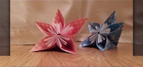 Japanese Origami Flowers - how to make an origami japanese kusudama flower tutorial
