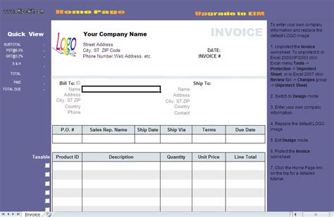 download free excel invoice template by billing invoice