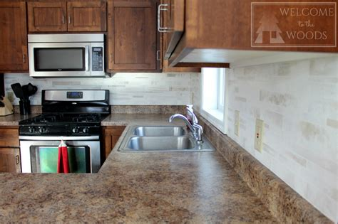 faux backsplash ideas faux tile back splash with paint welcome to the woods