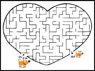 printable heart maze heart shaped printable mazes