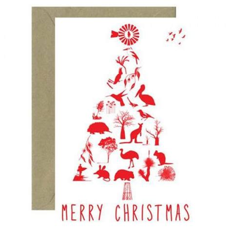 australian christmas tree card for sending overseas bits