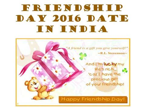 ppt friendship day 2016 date in india friendship