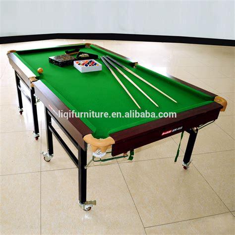 wholesale portable folding standard snooker tablewheeled