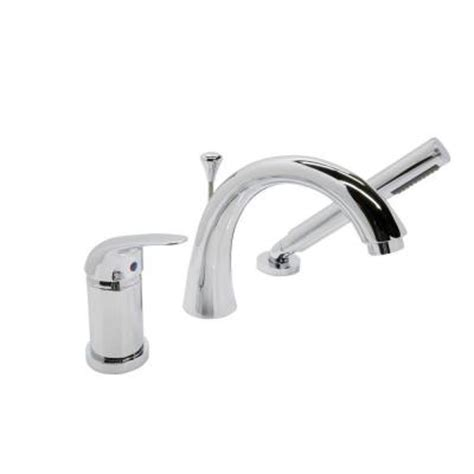 deck mount bathtub faucet with sprayer anzzi den series single handle deck mount roman tub faucet