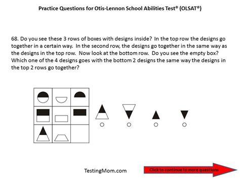Practice Olsat Questions For Pre Kindergarten To