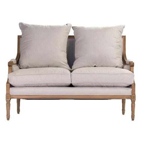 country settee st germain french country louis xvi natural oak frame