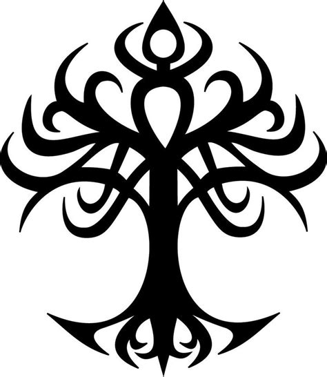 tree tribal tattoo tribal tree of create and own your own