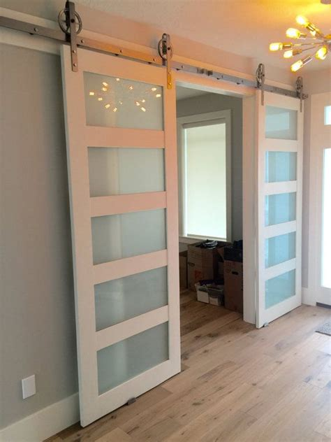 Sliding Glass Barn Doors Best 25 Glass Barn Doors Ideas On Interior Glass Barn Doors Separate And Sliding