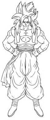 desenhos goku super sayajin 4