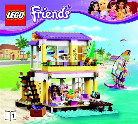 lego friends stephanie s house friends lego stephanie s beach house instructions 41037 friends