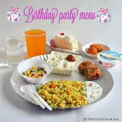 simple birthday party recipes menu for kids chitra s