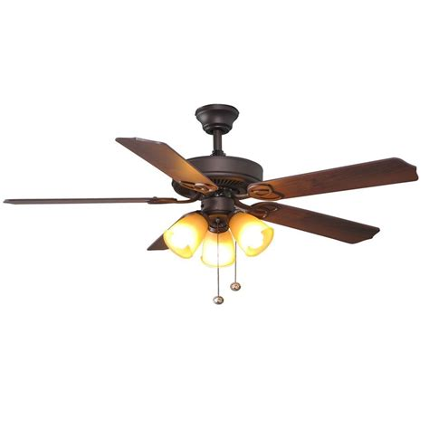 52 inch brookhurst ceiling fan hton bay brookhurst 52 quot rubbed bronze ceiling