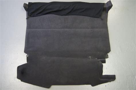 cadillac xlr rear cargo floor carpet black