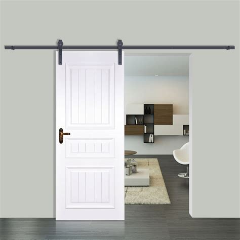 barn sliding door kit vevor sliding barn wood door closet hanger gear kit track