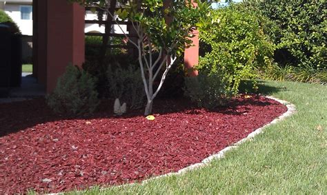 rubber st one day service mulch portfolio affordable landscaping tree service