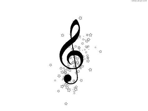 music notes with stars tattoo designs free designs clef and wallpaper picture