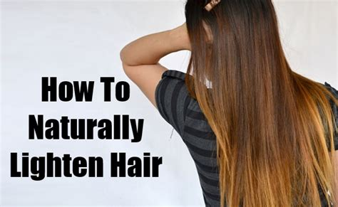 how to naturally lighten hair find home remedy supplements