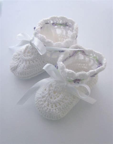 Handmade Crochet Baby Booties - vintage crochet baby booties handmade infant shoes