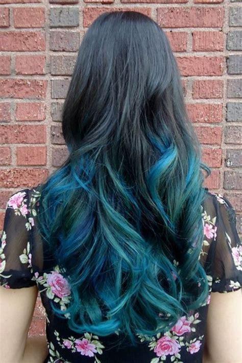 Sisir Kuas Cat Rambut Semir Biru 25 model gaya rambut ombre wanita keren terbaru masa kini