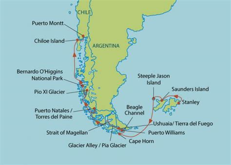 moon patagonia including the falkland islands travel guide books argentina cape horn map