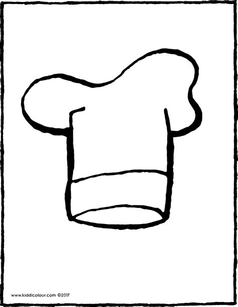 coloring page of a chef hat chef s hat kiddi kleurprentjes