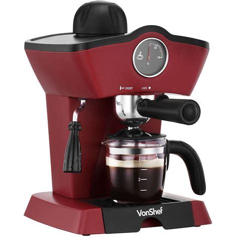 Coffee Maker Machine vonshef 13 190 4 bar espresso coffee maker for 220 240 volts