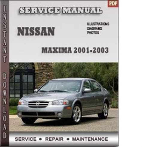 free online auto service manuals 2012 nissan maxima parking system 2001 2002 2003 maxima manual free