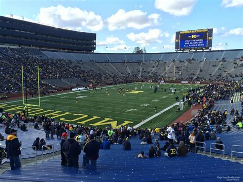 michigan section 8 michigan stadium section 8 rateyourseats com