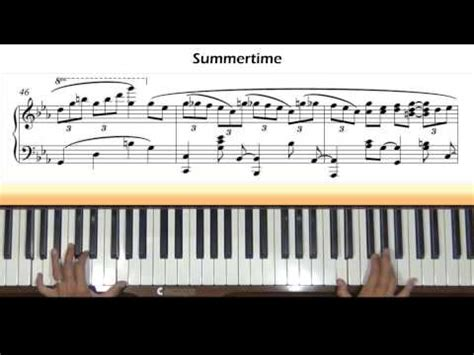 tutorial piano summertime summertime gershwin the pianos of cha n doovi