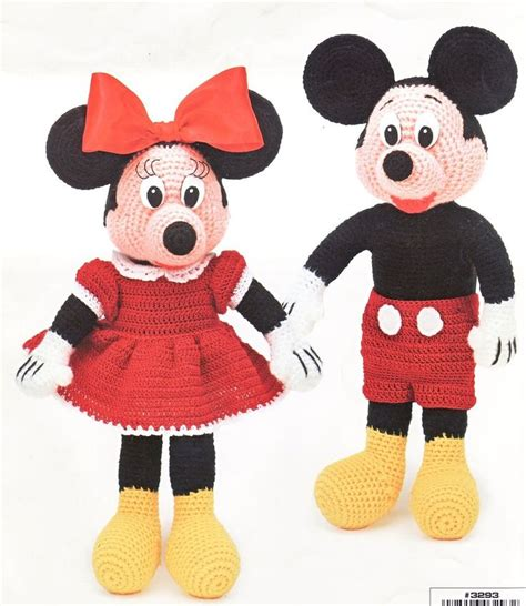 pattern crochet mickey mouse mickey mouse doll patterns free mickey minnie dolls