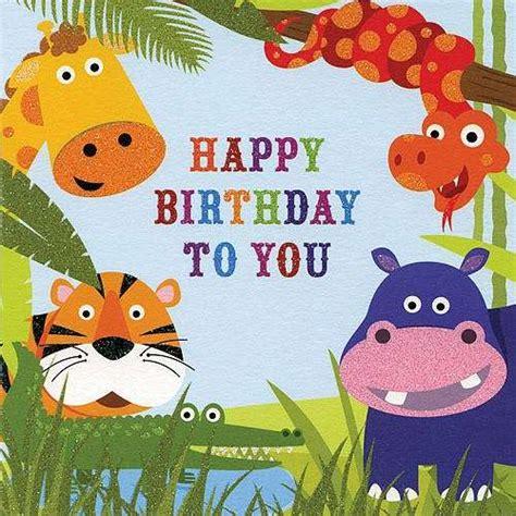 happy birthday animal stak design biglietti per il compleanno dei bambini foto 7 42