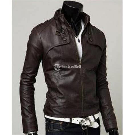 Jaket Kulit Pria Jogja jaket kulit warna putih kondisi baru terima pesanan size