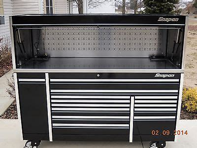 tool box top hutch snap on 84 quot black epiq tool box toolbox stainless power