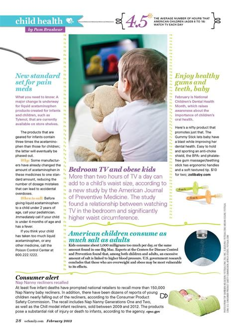 design layout editor child health editorial layout for february 2013 oc family